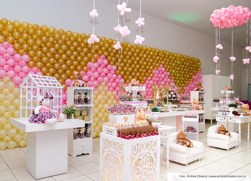 temas de aniversario infantil feminino : Fotos decora??o festa infantil - Tema: ursinhos rosa e marrom