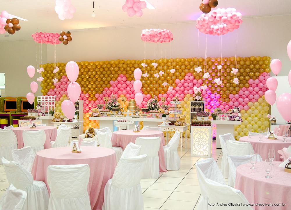 Fotos decoração festa infantil – Tema ursinhos rosa e marrom