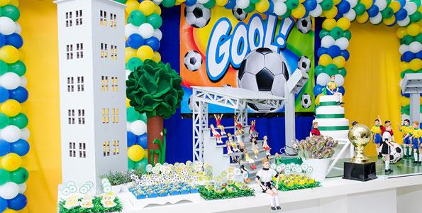 decoração de futebol - aniversário